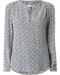 Cinque Blusenshirt aus Viskose Modell 'Citaube' - Blau