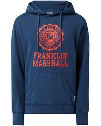 Franklin & Marshall Hoodie mit Logo - Blau
