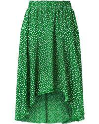 Lolly's Laundry Midirock mit Allover-Muster Modell 'Bali' - Grün