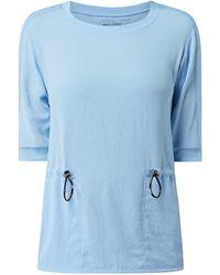 Marc Cain Shirt aus Chiffon - Blau