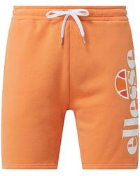 Ellesse Sweatshorts mit Logo Modell 'Bossini' - Orange
