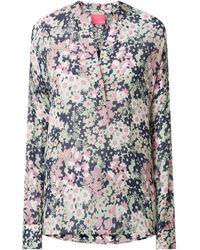 LIEBLINGSSTÜCK Blusenshirt mit verlängerter Rückseite Modell 'Edana' - Blau