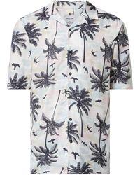 Only & Sons Regular Fit Freizeithemd aus Viskose Modell 'Pam' - Blau
