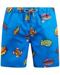 Shiwi Badehose mit Allover-Muster - Blau