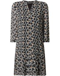 Comma, Kleid aus Chiffon - Schwarz