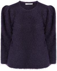 Gestuz Pullover mit angeschnittenen Ärmeln Modell 'Jisa' - Blau