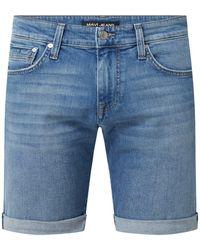 Mavi Jeansshorts mit Stretch-Anteil Modell 'Tim' - Blau