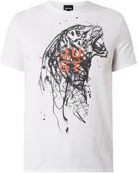 Just Cavalli T-Shirt mit Tiger-Print - Weiß