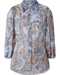 Second Female Blusenshirt mit Paisleymuster Modell 'Adelina' - Blau
