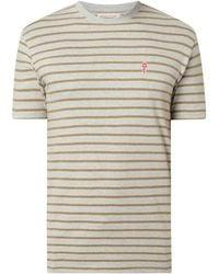 RVLT Regular Fit T-Shirt mit Streifenmuster - Grau