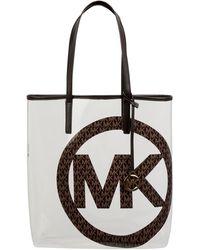 MICHAEL Michael Kors Shopper in transparenter Optik - Braun