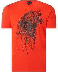 Just Cavalli T-Shirt mit Tiger-Print - Rot
