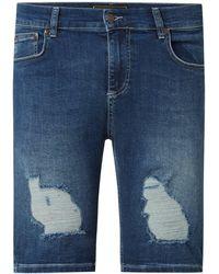 SIKSILK Jeansshorts mit Stretch-Anteil - Blau
