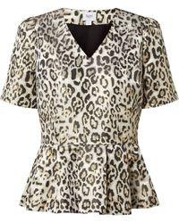Saint Tropez - Blusenshirt mit Schößchen Modell 'Desma' - Lyst