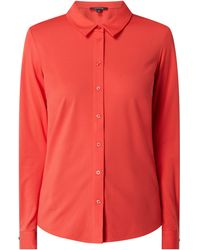 Comma, Bluse mit Stretch-Anteil - Rot