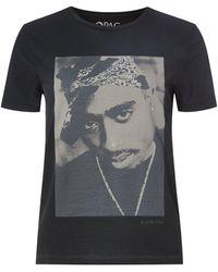 ONLY T-Shirt aus Bio-Baumwolle Modell '2Pac' - Schwarz