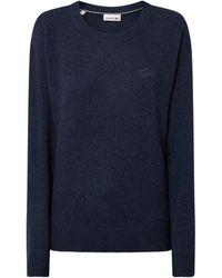 Lacoste Pullover aus Wolle - Blau