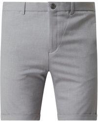 Matíníque Chino-Shorts mit Stretch-Anteil Modell 'Liam' - Grau