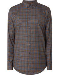 s.Oliver BLACK LABEL Slim Fit Business-Hemd mit Stretch-Anteil Modell 'Sopure' - Orange