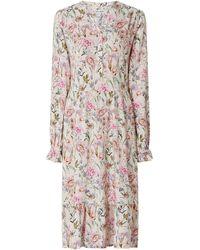Lolly's Laundry Kleid aus Viskose Modell 'Audrey' - Weiß