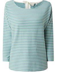 Tom Tailor Denim Sweatshirt mit Streifenmuster - Grün