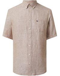 Fynch-Hatton Regular Fit Leinenhemd - Braun