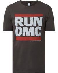 Amplified T-Shirt mit 'Run-D.M.C.'-Print - Grau