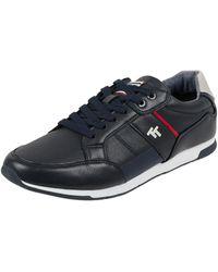 Tom Tailor Sneaker in Leder-Optik - Blau