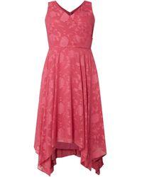 Sheego PLUS SIZE Kleid mit floralem Muster - Pink