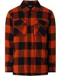 Tigha Regular Fit Flanellen Overhemd Van Een Mix Van Katoen En Viscose, Model 'luke' - Oranje