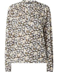 Marc O'polo - Blusenshirt mit Allover-Muster - Lyst
