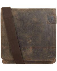 Strellson Messenger Bag aus Leder Modell 'Richmond' - Braun