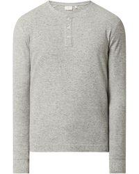 s.Oliver RED LABEL Regular Fit Serafino-Shirt aus Baumwollmischung - Grau