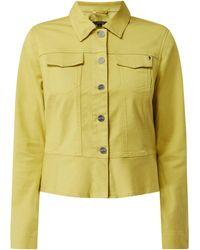 Comma, Jeansjacke mit Schößchen - Grün