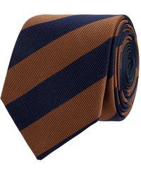 Jake*s Krawatte aus reiner Seide (6,5 cm) - Braun