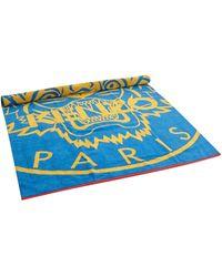 KENZO Strandtuch aus Frottee Modell 'Newtiger' - Blau