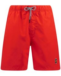 Shiwi Badehose mit Eingrifftaschen Modell 'Mike' - Rot