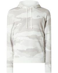 Nike Hoodie mit Logo-Stickerei - Grau