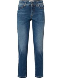 Cambio Jeans mit Ziersteinen Modell 'Piper' - Blau
