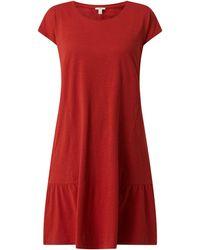 Edc By Esprit Kleid aus Bio-Baumwolle - Orange