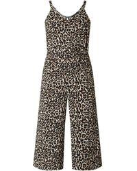Vero Moda Jumpsuit mit Leopardenmuster - Schwarz
