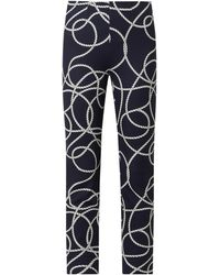 Seductive Stoffhose mit verkürztem Bein und Stretch-Anteil Modell 'Sabrina' - Blau