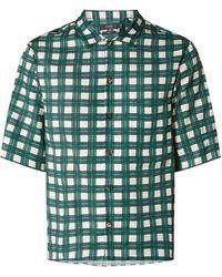 JOSEPH Comfort Fit Freizeithemd aus Viskose-Baumwoll-Mix - Grün