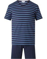 Mey Pyjama aus Baumwolle - Blau