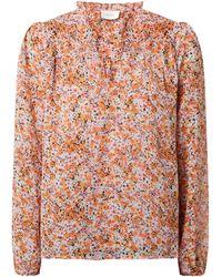 Neo Noir Blusenshirt aus Chiffon Modell 'Bisa' - Orange
