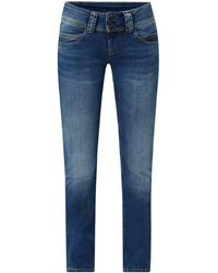 Pepe Jeans - Straight Fit Low Waist Jeans mit Stretch-Anteil Modell 'Venus' - Lyst
