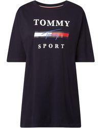 Tommy Sport T-Shirt mit Logo-Print - Blau