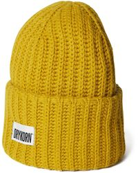 DRYKORN Mütze mit Label-Patch Modell 'Lester' - Gelb