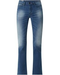 Kings Of Indigo Flared High Rise Jeans mit Stretch-Anteil Modell 'Marie' - Blau