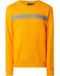 Nicce London Sweatshirt mit Logo-Print Modell 'Axiom' - Orange